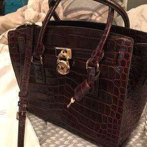 Authentic MK croc imposed handbag